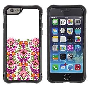 Suave TPU GEL Carcasa Funda Silicona Blando Estuche Caso de protección (para) Apple Iphone 6 / CECELL Phone case / / Pink Clean White Minimalist Girl /