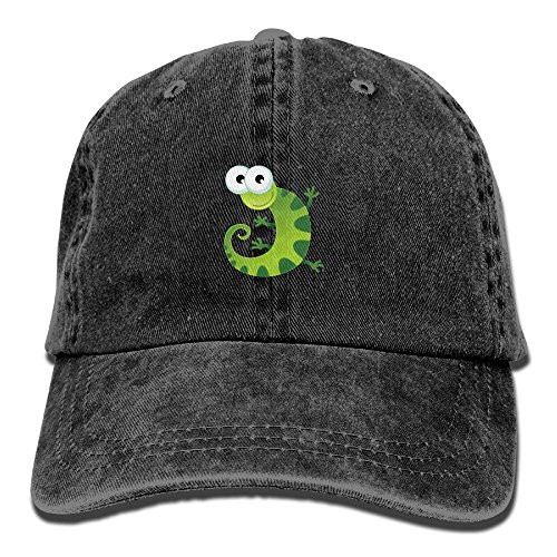 Adult Green Little Gecko Sports Adjustable Structured Baseball Cowboy Hat