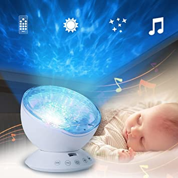 Amazon ledmomo sleep projection led night light lamp with 7 ledmomo sleep projection led night light lamp with 7 lighting mode remote control relaxing light mozeypictures Image collections