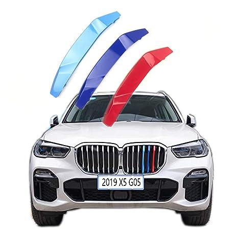 M-SPORT FRONT GRILLE 3D 3COLOUR COVER STRIPS CLIP TRIM FOR BMW 3SERIES E90 04-08