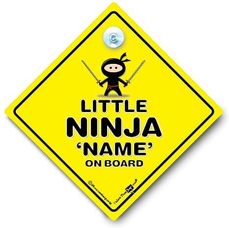 Little Ninja a Bordo Señal de Coche,Personalizado Bebé ...