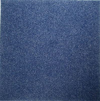 Peel and Stick 12x12 Self Adhesive Carpet Tiles Do It Yourself Floor Tile for Residential & Commercial Carpet Squares for Flooring Use 12 Tiles - Covers 12 Sq. Ft (Blue)