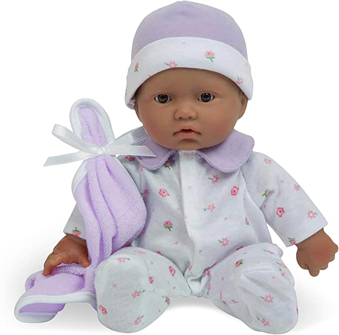 "La Baby Boutique Soft Body Baby Doll (Hispanic), 11"""