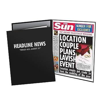 Personalizado el sol compromiso periódico con carpeta de presentación de fotos personalizable nuestro: Amazon.es: Oficina y papelería