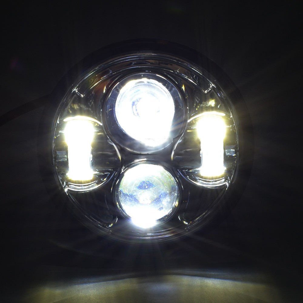 Eagle Lights 5 3 4 Chrome Led Projection Headlight Exciting Scout Crafts 1 Or 2 Headlamp Automotive
