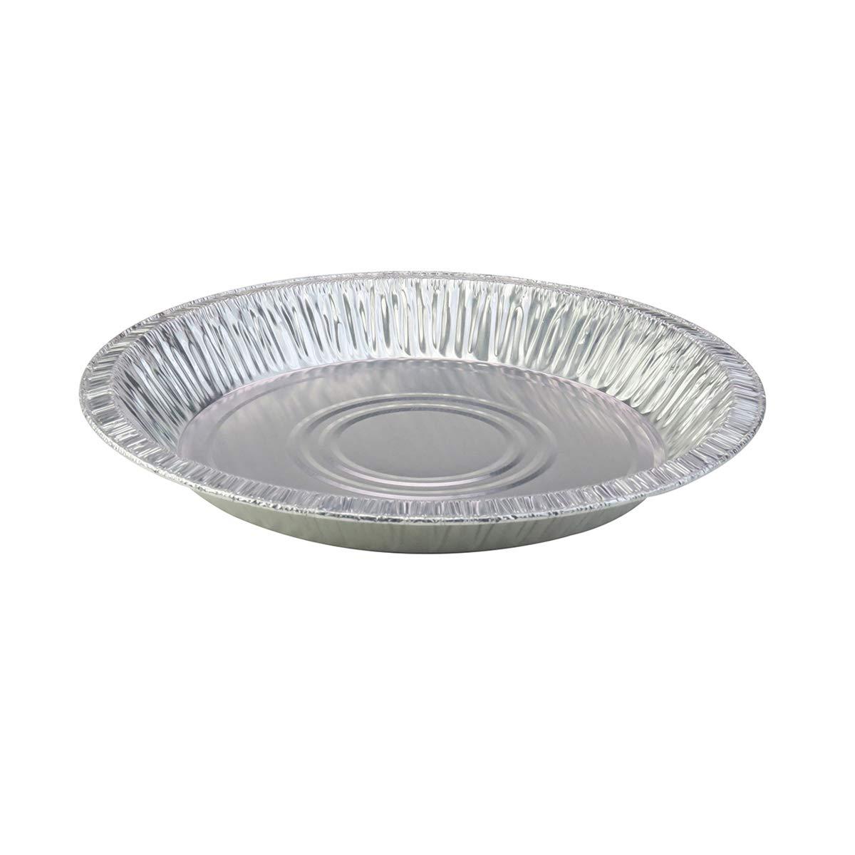 10'' (Rim to RIm 9-5/8'')  Disposable Aluminum Pie Pans #1042- Pack of 12