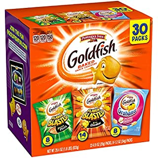 Pepperidge Farm Goldfish Variety Pack Crackers. 29.4 Ounce Snack Packs 30 Count