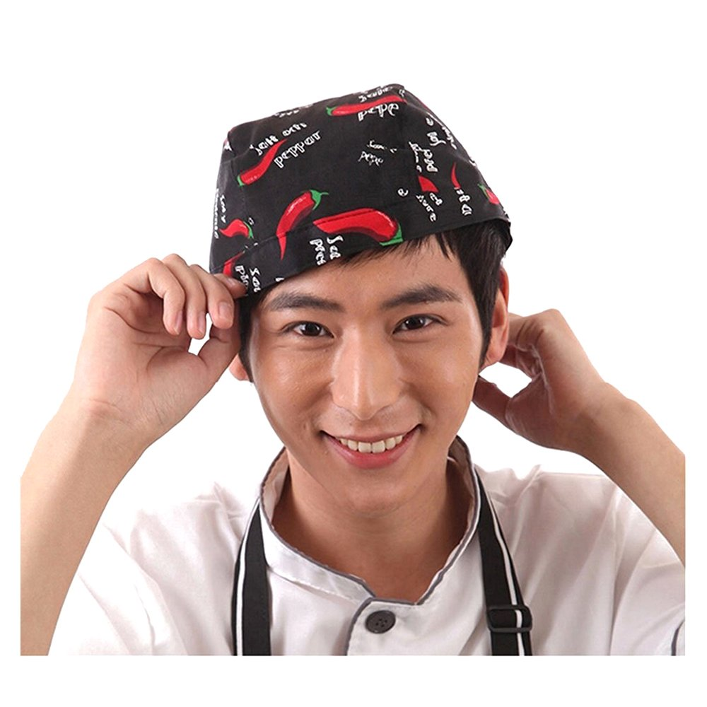 TOOGOO Western Cappello da Cameriere da Lavoro Cappello da Cuoco da Hotel Hat Modello Pepper