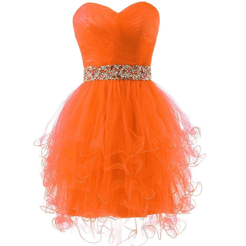 CuteShe Women's Short Strapless Tulle Prom Homecoming Dresses