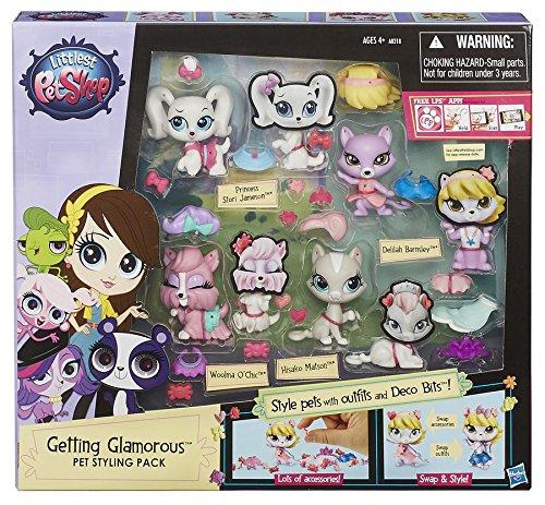 Hasbro Littlest Pet Shop Getting Glamorous Pet Styling Pa...