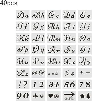 Buchstabe Schablonen,Buchstaben- und Zahlenschablone,Malerei Papier Handwer M8M6