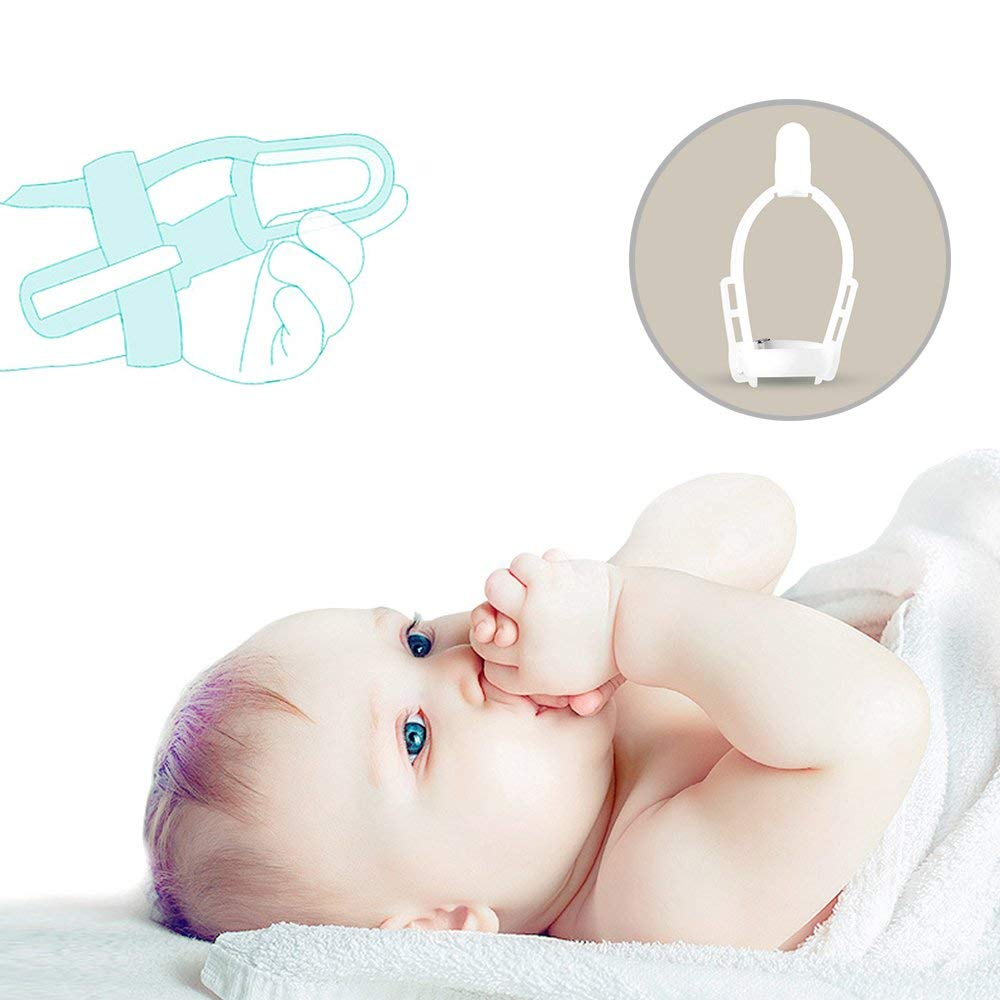 Stop Thumb /& Fingers Sucking Finger Guard Treatment Kit to Stop Thumb Sucking Non-Toxic Baby Kids Wrist Band S