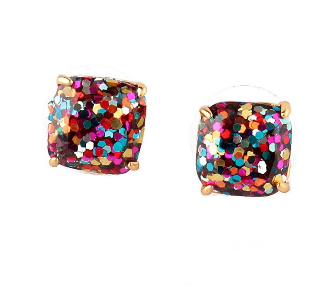 kate spade New York Mini MultiColor Glitter Stud Earrings 12k GP Gold by Kate Spade New York (Image #1)