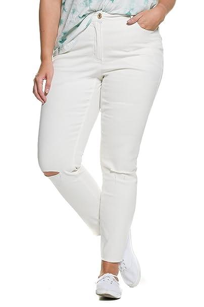 Studio Untold Damen große Größen bis 54   Skinny-Jeans   Hose in weiß   5405baf08f