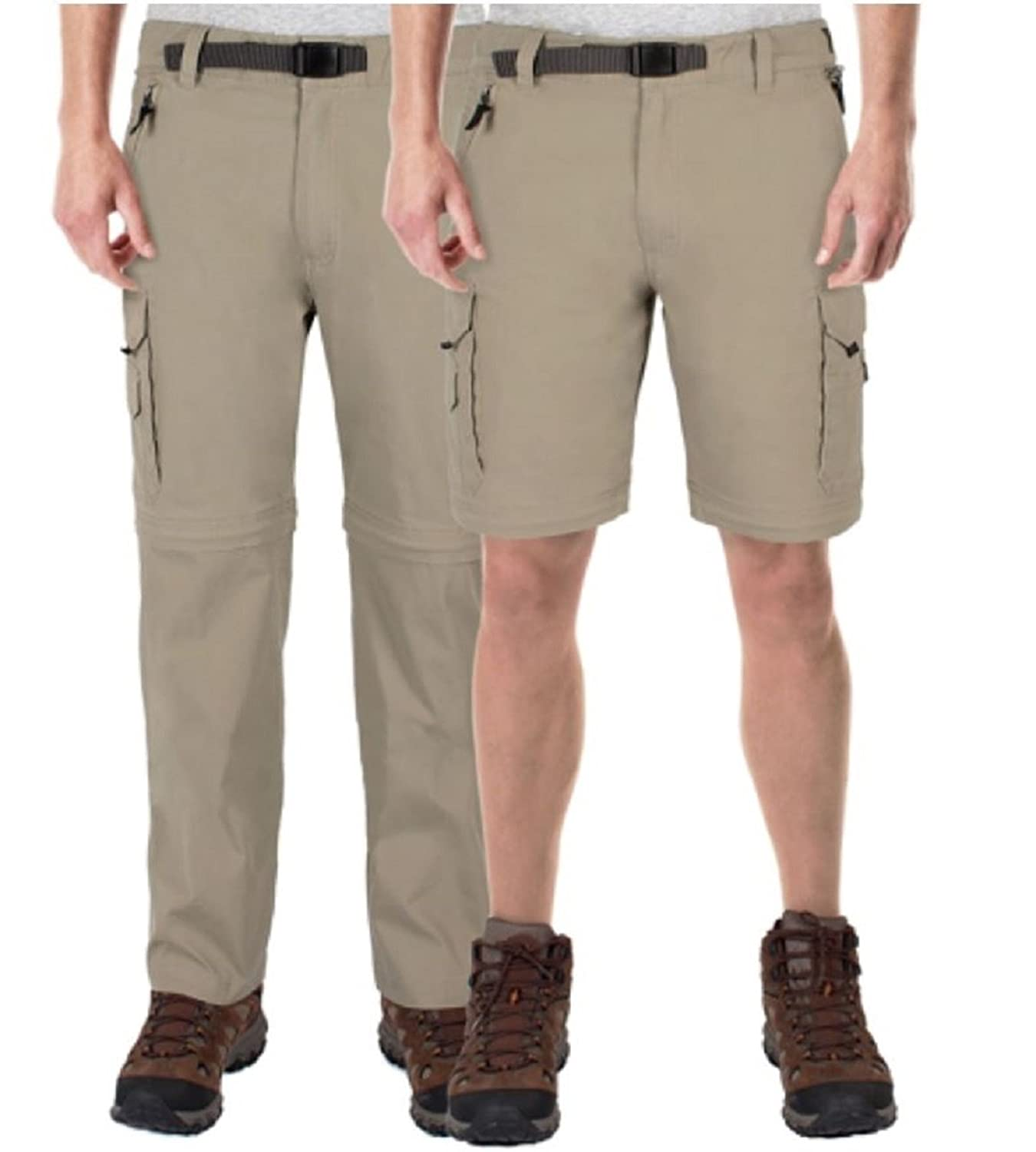 3d648db4b7ad1e 50%OFF BC Clothing Men's Convertible Cargo Pant with Stretch, Relaxed Fit