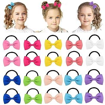 "20Pcs Boutique Girls Kids Children 4/"" Grosgrain Ribbon Hair Bows Alligator Clips"