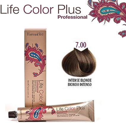 FarmaVita Life Color Plus, Tinte, Tono 7.00 (Rubio Intenso), 100 ml