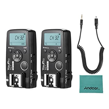 Andoer remote, trigger, flash trigger, 2 in 1 with DC2