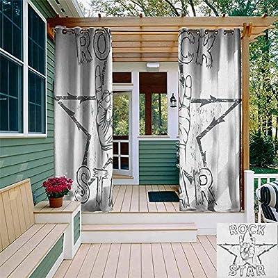XXANS Cortina de pérgola, composición Abstracta Hawaiana con Hojas Coloridas e Instrumentos de Guitarra, para Patio/Porche Frontal: Amazon.es: Jardín