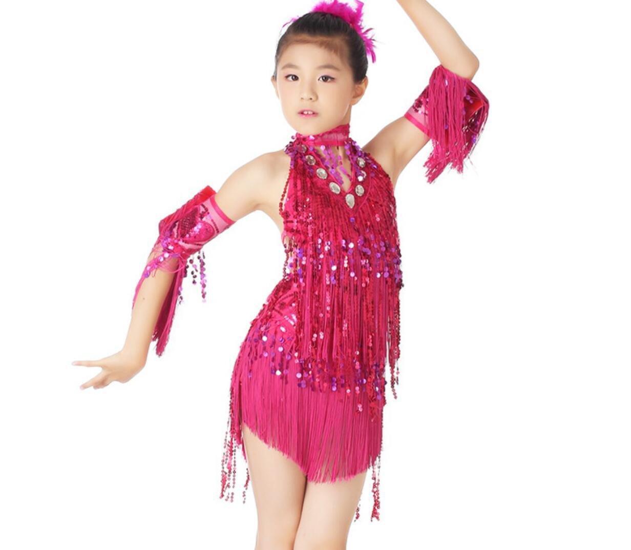 Rose rouge Enfants Danse Latine Porter Enfants Danse Latine Porter Danse Concours Concours Blanc Jaune   Rose Rouge Rouge   Bleu M