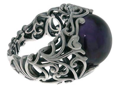 5ececf4b5 PANDORA Regal Dazzling Beauty Purple Sterling Silver Ring, Size: EUR-50, US