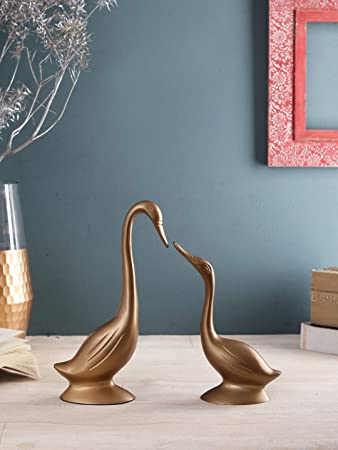 Buy Sammsara Decorative Gold Daffy Mini Swan Set Of 2 Large Ht 10 Inch Small Ht 7 5 Inch Decoration Items For Living Room Home Decor Accessories Online At Low Prices In India Amazon In