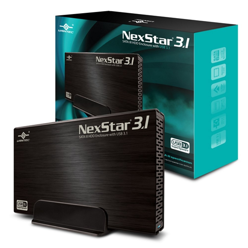 Vantec 3.5-Inch SATA 6GB/s to USB 3.0 HDD Enclosure, Black (NST-366S3-BK) Vantec USA