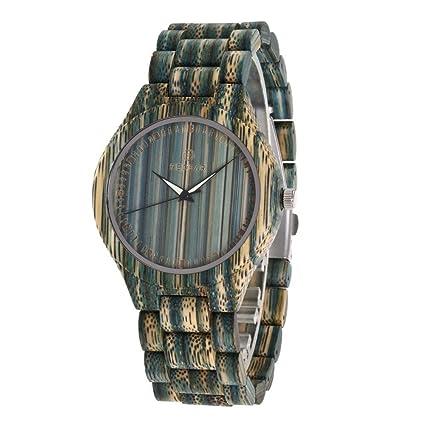 Reloj De Pulsera De Madera Para Hombre Reloj De Pulsera De Cuarzo Analógico Vintage Big Dial