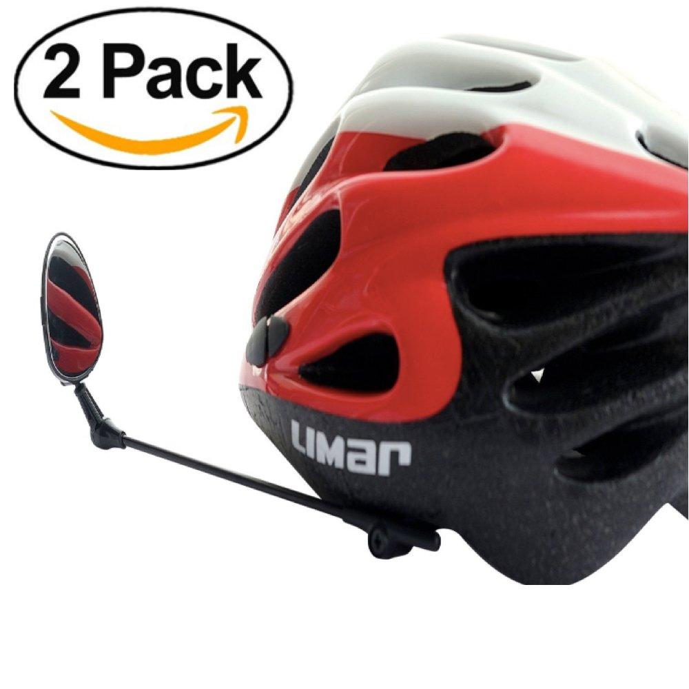 2個セット - ヘルメット用バイクミラー - クリスタルクリアビューの調整可能ヘルメットミラー - 自転車での生活から(2)   B01IV0D2TG
