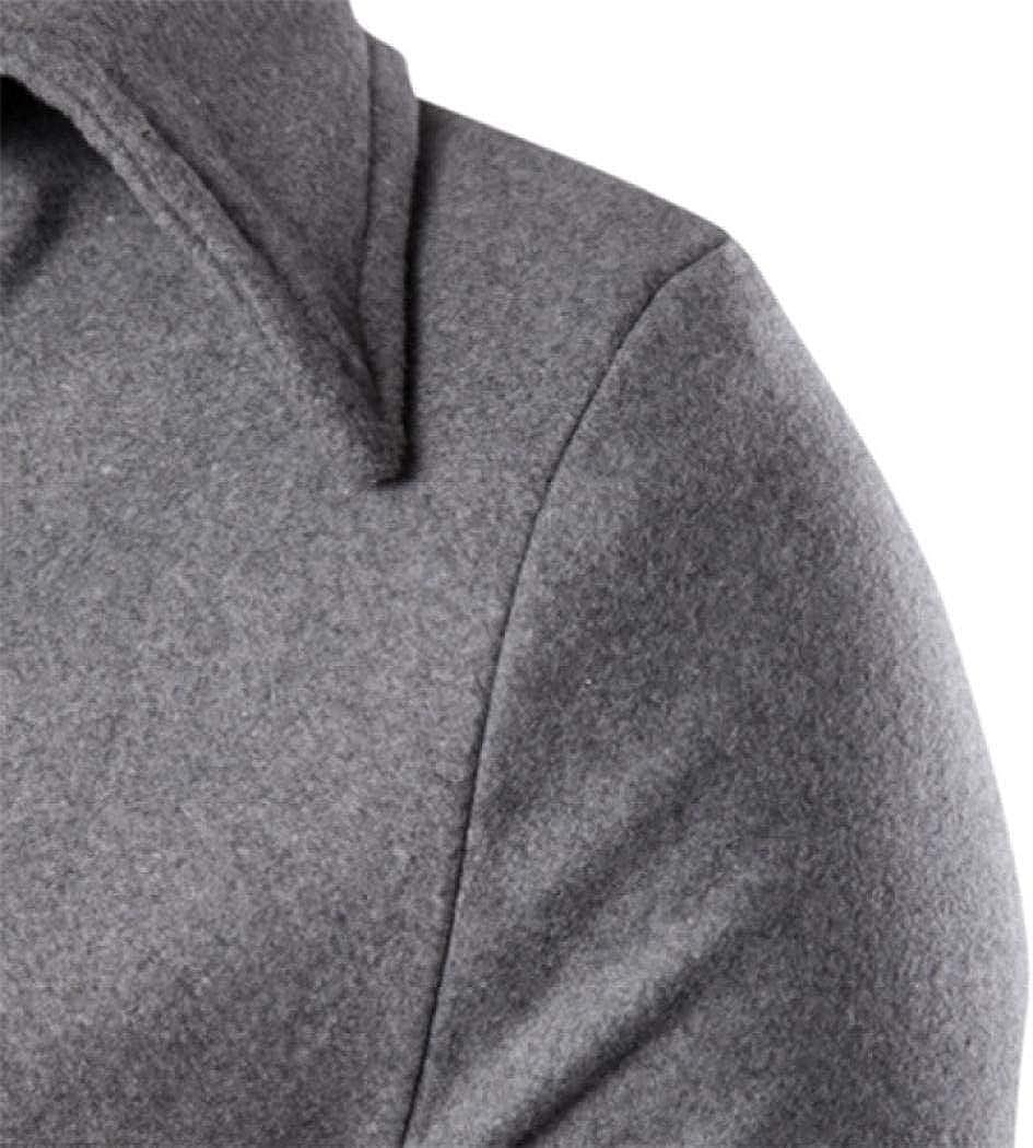 Mens Short Single Breasted Trench Coat Pea Coat Overcoat Windbreaker Jacket Gray,US L=XXL Stylish Fashion Classic Coat