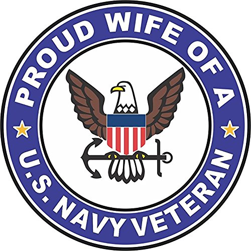 US Navy Veteran Proud Wife 5.5 Inch Decal