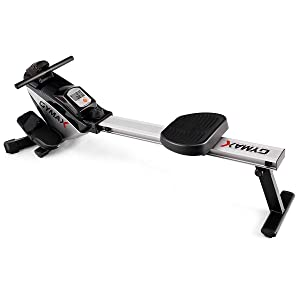 Goplus Magnetic Rowing Machine, Folding Rower with LCD Display and Adjustable Resistance, Exercise Cardio Fitness Equipment for Home Use