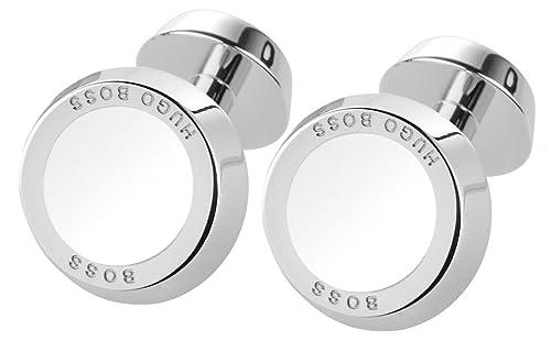 Neue Produkte Top Design Qualitätsprodukte BOSS 50219288-100 Simony White Manschettenknöpfe