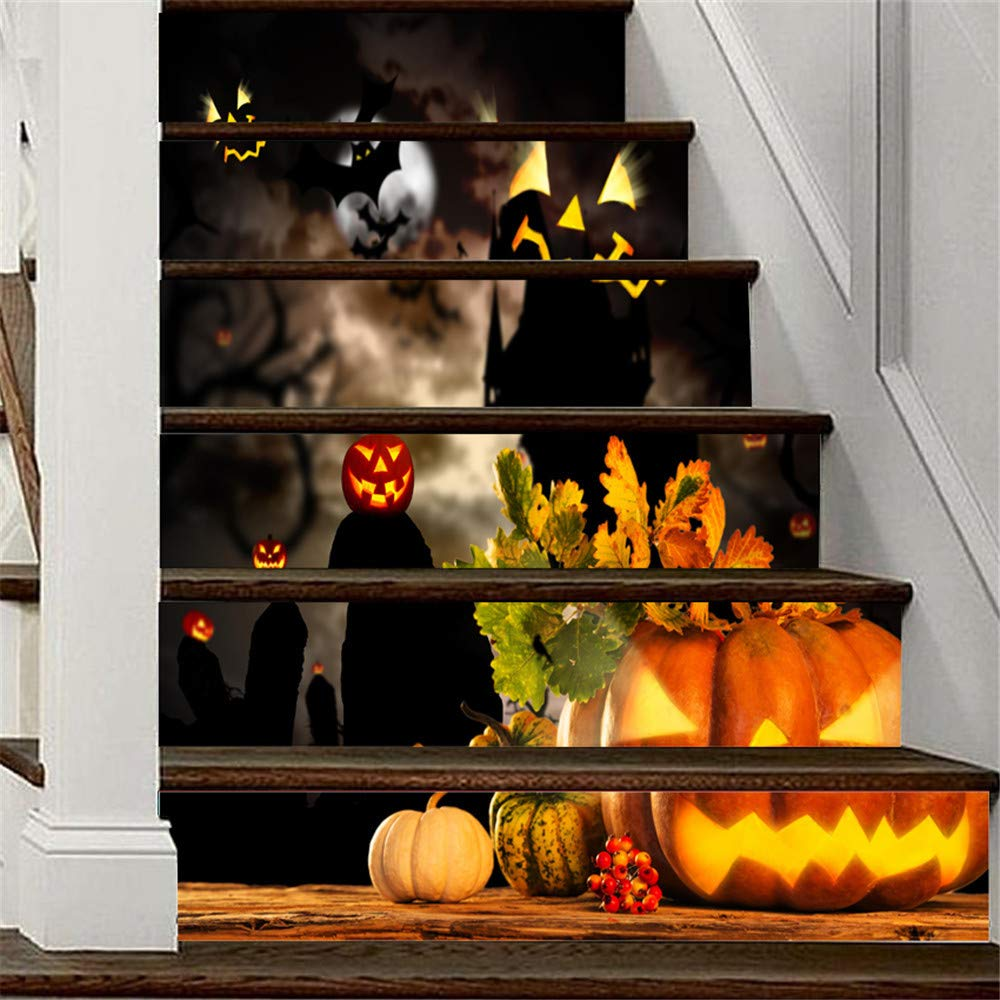 Amazon.com: DMZ Halloween 3D Simulation Stair Stickers Waterproof Wall Stickers DIY Home Decor: Beauty