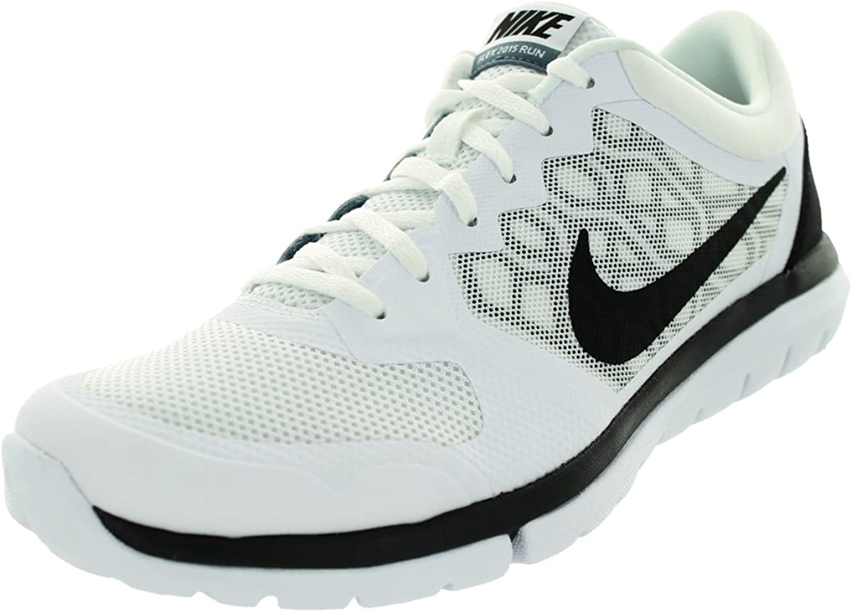 Nike Men s Flex Experience RN 4 White Blue Graphite Black Running Shoe, 8 D M US