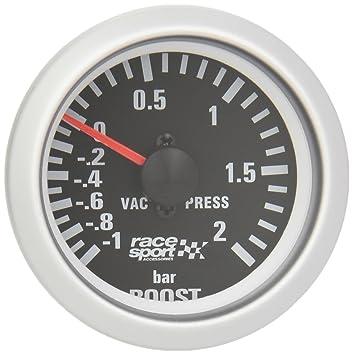 "Sumex Blck701 - Manómetro, Color Negro, Presión Turbo,""Race Sport"""