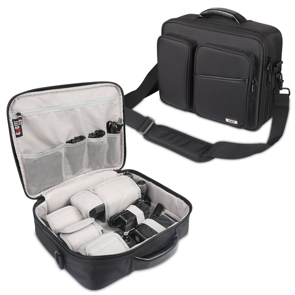 BUBM Travel Carry Bag for DJI Mavic Pro, Protective Storage Organizer Case with Detachable Shoulder Strap for Cable, Remote Control, Battery, Charger, Water-Resistant and All in One Place, Black 4331968925