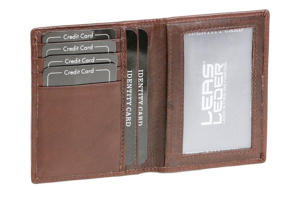 LEAS Ausweis- und Kreditkartenhülle Echt-Leder, dunkelbraun Card-Collection LE50005-01-03
