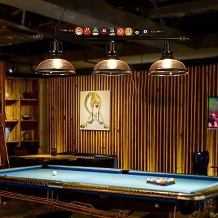 STAGE LIGHTING American Retro Araña Restaurante Bar Bar Tabla Tienda de Ropa Billar Mesa de Ping Pong Tienda Decorativo de la Personalidad Creativa Nostálgico Lámparas [Clase de energía A++]: Amazon.es: Hogar