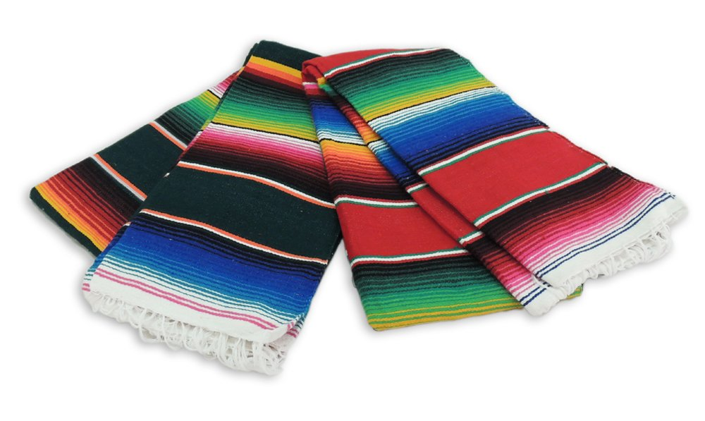 Six Sarape XL Meditation Blanket Wholesale Serape (6) Mexico Throw Yoga Mat Accessory Mexican *000203* by Incazteca