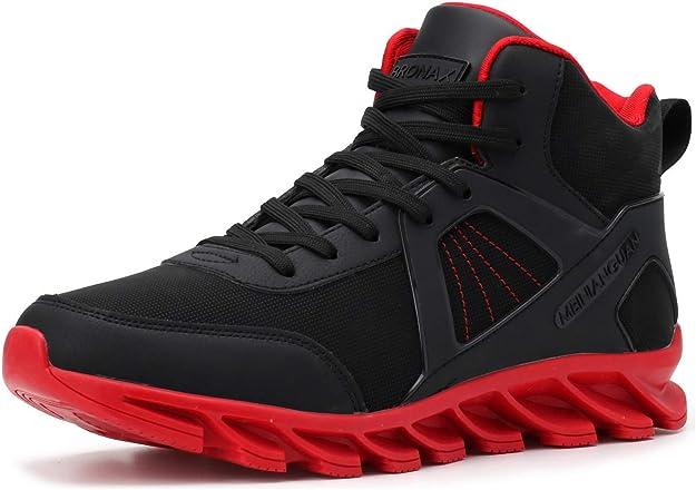 Bronax Sneakers Herren Männer Hightops Schwarz/Rot