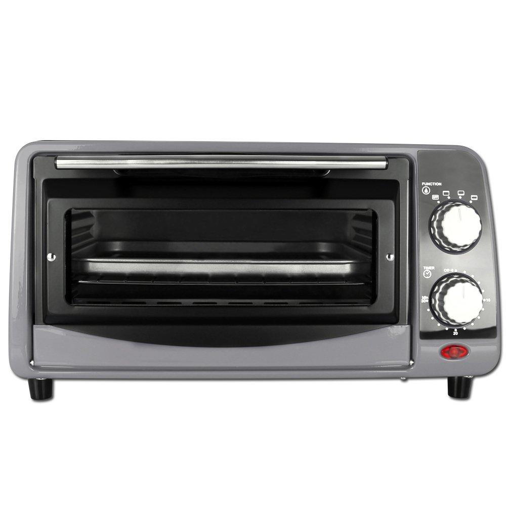 TW24 Backofen - Pizzaofen - Ofen - Backautomat 9 Liter - Mini Backofen 800W mit Farbauswahl (Rot)