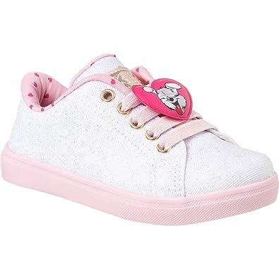 1696ca9f80 Tênis Infantil Feminino Klin Baby Gloss Street Coração Cor  Branco Rosa -  Tam.