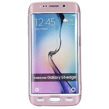 Ukayfe Kompatibel mit Samsung Galaxy S6 edge PC Hard Schutzhülle Full Body 360 Grad Körperschutz hülle 3 in 1 Ultra-dünne Cas