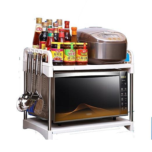 Estante Pequeño Microondas horno de carro rejilla del horno de ...