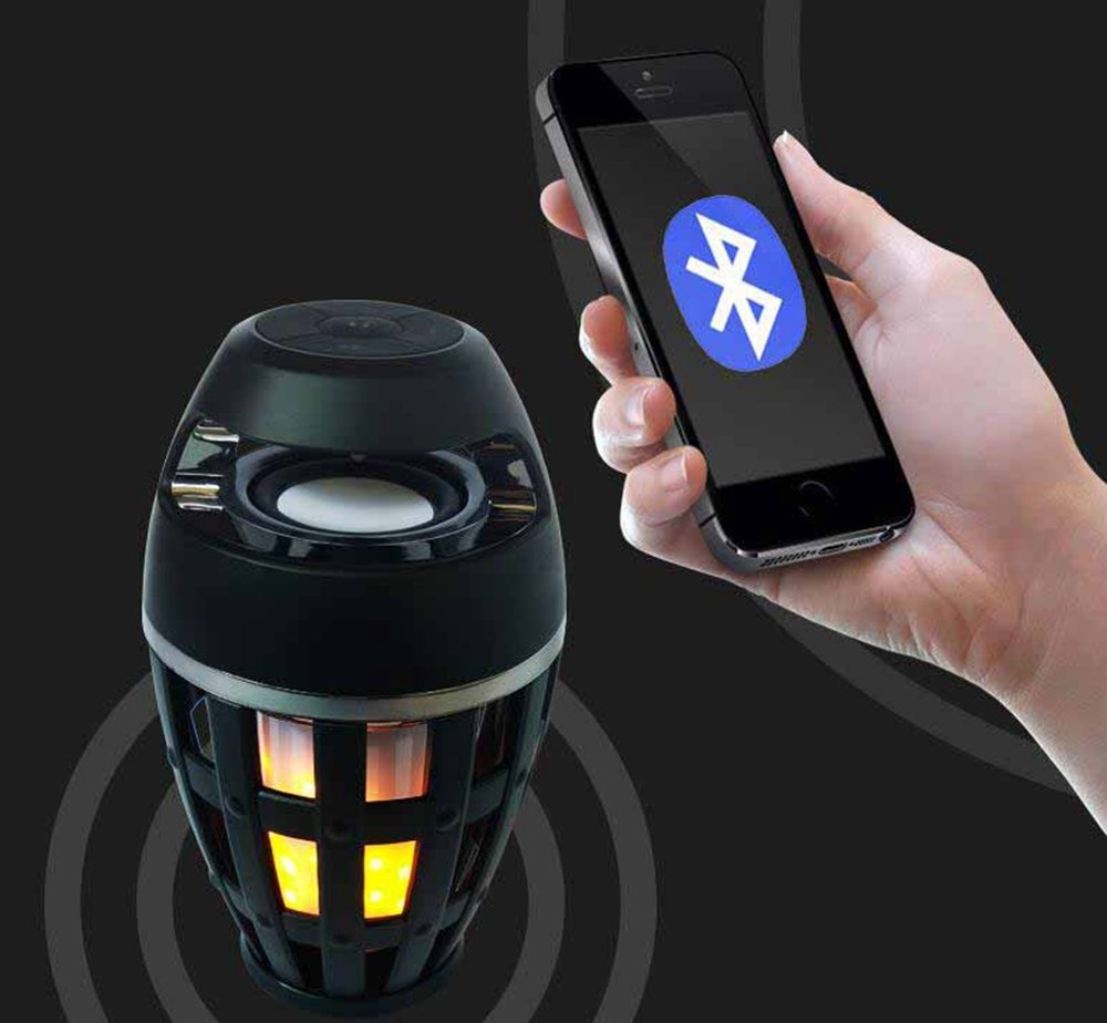 Kaxima Wireless Bluetooth Speaker Smart Outdoor with night light support card by Kaxima (Image #4)