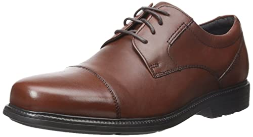 Rockport Men's Charles Road Cap Toe Oxford Tan II Leather 7 M ...