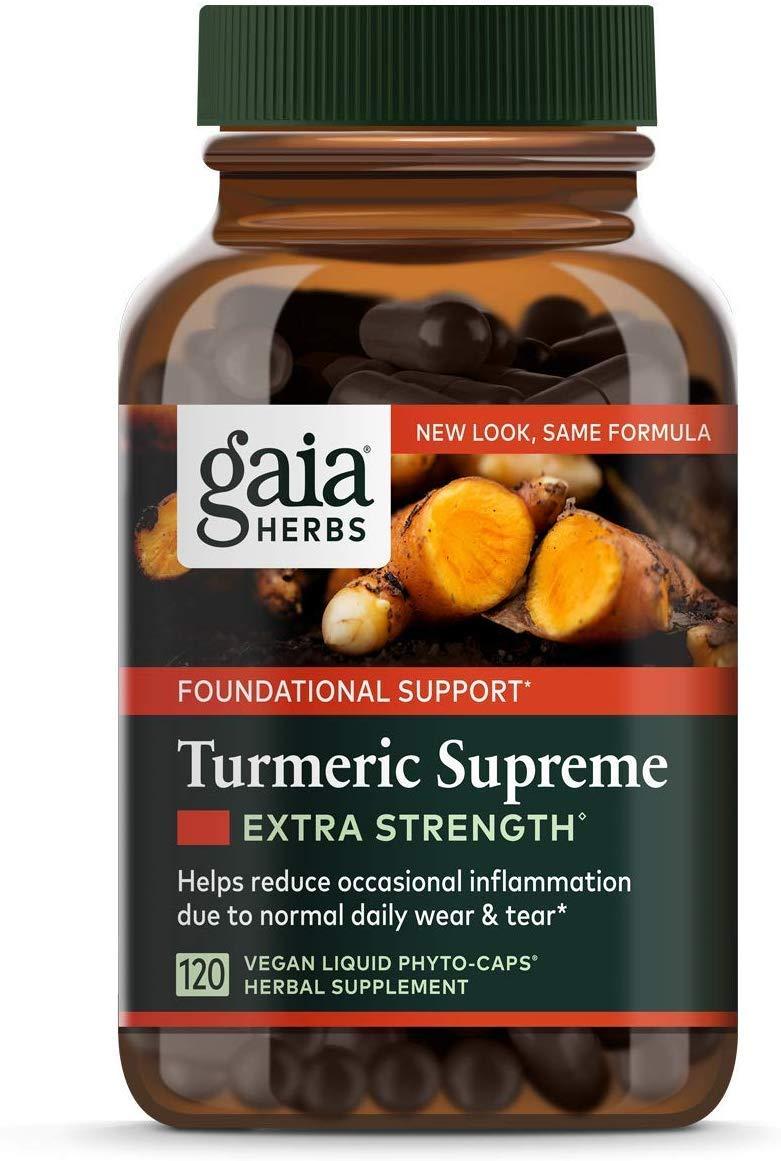 Gaia Herbs Turmeric Supreme Extra Strength 120 Liquid Phyto-Capsules 2 pack