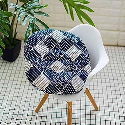 Allywit Chairs Cushion, Soft Chair Cushion Round Cushion Multi Pattern Home Fashions Outdoor Seat Back Chair Cushion Simple (D) : Garden & Outdoor