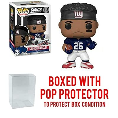 Saquan Barkley New York Giants Pop Sports NFL Vinyl Figure (Bundled with Ecotek Pop Protector): Toys & Games